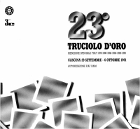 23° Truciolo d'Oro 1991 copertina