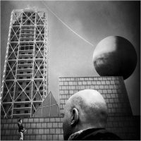 """Enrico Patacca """"Mobile city 7"""" - Truciolo d'Oro"""