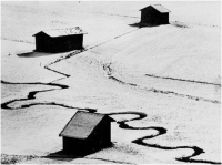 "Ottorino Testini ""Baite d'inverno"" - Sez. Tema Libero BN Cat. Paesaggio 3° Premio"