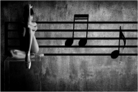 """Carlo Corsini """"In chiave di violino"""" - Sez. Stampe BN Premio ex-aequo"""