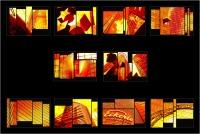 """Andronico Claudio """"Francoforte duemila e... (Colori irreali di un insolito tramonto: l'ultimo. Tasselli di un'immagine che cerca di ricomporsi senza alcun esito a simboleggiare un futuro ormai concluso.  Dedicato a Conc"""" (2020)"""