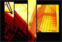 """Andronico Claudio """"Francoforte duemila e... (Colori irreali di un insolito tramonto: l'ultimo. Tasselli di un'immagine che cerca di ricomporsi senza alcun esito a simboleggiare un futuro ormai concluso.  Dedicato a Conc 01"""" (2020)"""