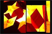 """Andronico Claudio """"Francoforte duemila e... (Colori irreali di un insolito tramonto: l'ultimo. Tasselli di un'immagine che cerca di ricomporsi senza alcun esito a simboleggiare un futuro ormai concluso.  Dedicato a Conc 02"""" (2020)"""