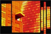 """Andronico Claudio """"Francoforte duemila e... (Colori irreali di un insolito tramonto: l'ultimo. Tasselli di un'immagine che cerca di ricomporsi senza alcun esito a simboleggiare un futuro ormai concluso.  Dedicato a Conc 04"""" (2020)"""