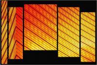 """Andronico Claudio """"Francoforte duemila e... (Colori irreali di un insolito tramonto: l'ultimo. Tasselli di un'immagine che cerca di ricomporsi senza alcun esito a simboleggiare un futuro ormai concluso.  Dedicato a Conc 07"""" (2020)"""