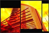 """Andronico Claudio """"Francoforte duemila e... (Colori irreali di un insolito tramonto: l'ultimo. Tasselli di un'immagine che cerca di ricomporsi senza alcun esito a simboleggiare un futuro ormai concluso.  Dedicato a Conc 08"""" (2020)"""
