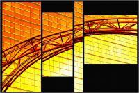 """Andronico Claudio """"Francoforte duemila e... (Colori irreali di un insolito tramonto: l'ultimo. Tasselli di un'immagine che cerca di ricomporsi senza alcun esito a simboleggiare un futuro ormai concluso.  Dedicato a Conc 09"""" (2020)"""