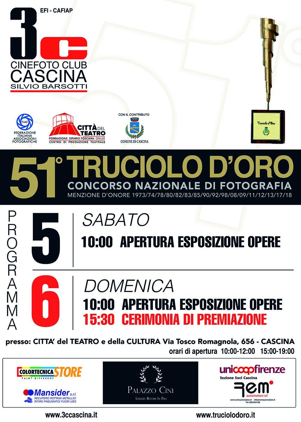 51° TRUCIOLO D'ORO – Esposizione opere e cerimonica di premiazione